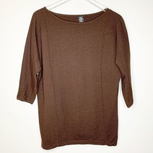 THEORY Womens Brown Wool Dolman Sweater Medium M